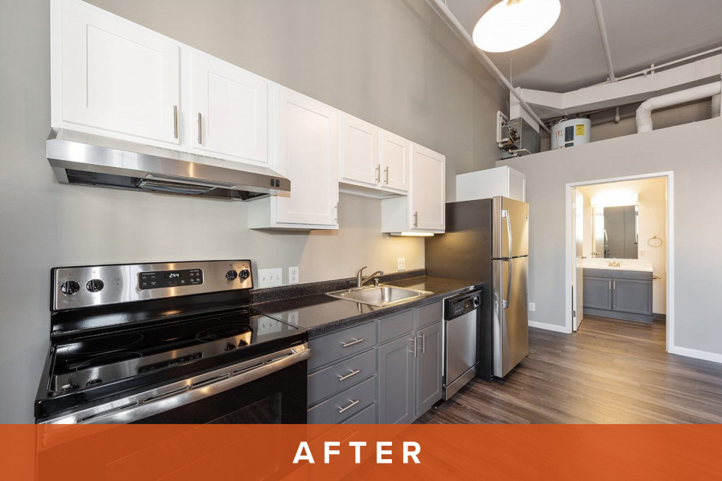 ReNew on Stout Unit Kitchen After